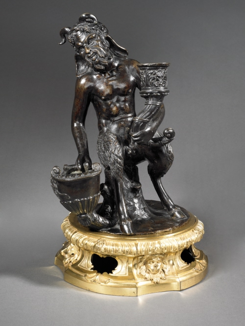Inkstand with a seated satyr
